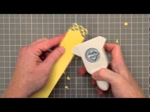 How to use corner punch in different ways and make double patterned punch. Easy to follow video