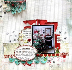 A really good layout to practice scrapbooking