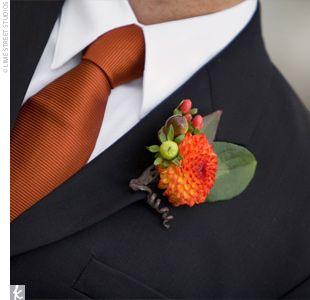 החתן יכול לבחור בעניבה כתומה