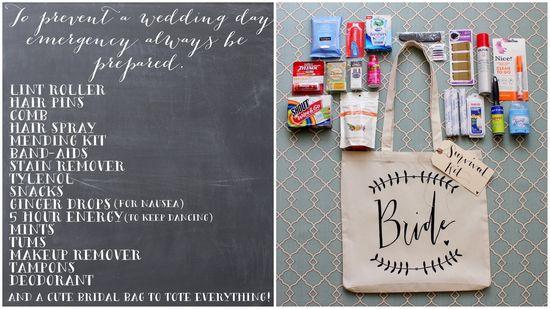 DIY Wedding Day Survival Kit