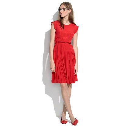 Silk Drop-Pleat Dress