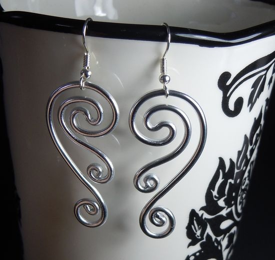Spiral Waves Hypo Allergenic Earrings by melissawoods on Etsy