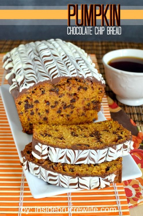 Pumpkin Chocolate Chip Bread -