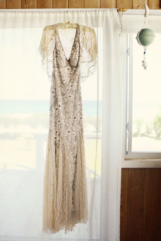 Neutral wedding dress