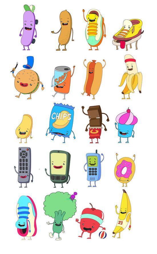 Character Designs by Juan Molinet, via Behance