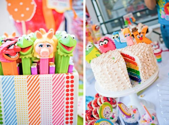 muppet themed inspired birthday party via Kara's Party Ideas