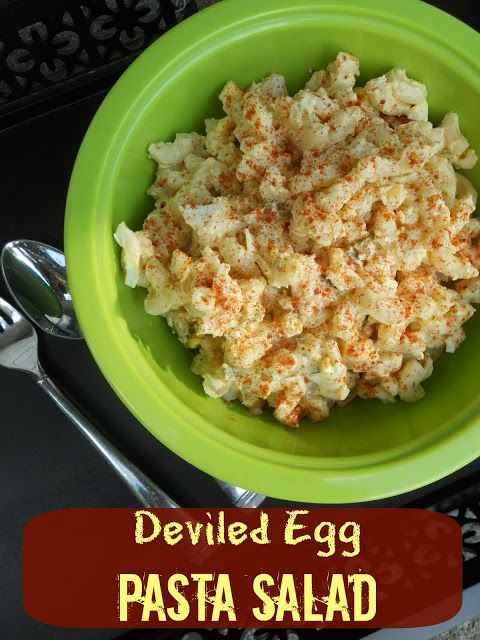 Deviled Egg Pasta Salad - OH NO!! Hub wanted deviled eggs over the long 4th holiday, but I'd made  macaroni salad (enough with the mayo already!). Always loved gran's potato salad with egg, this must be very tasty (and would have been a great combo had I known).