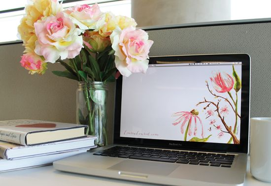 springify your screen with one of these pretty floral wallpapers