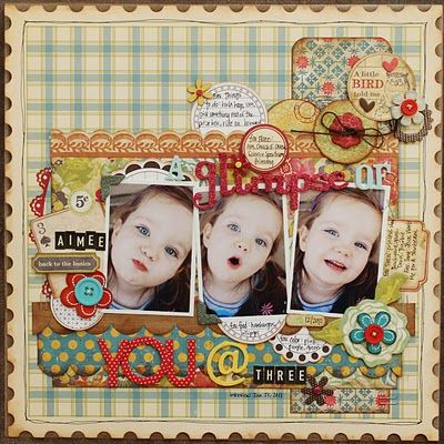 Like the colors on this scrapbook page layout