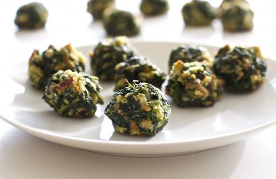 Savory Spinach Bites - spinach, onion, egg, butter, parmesan, stuffing