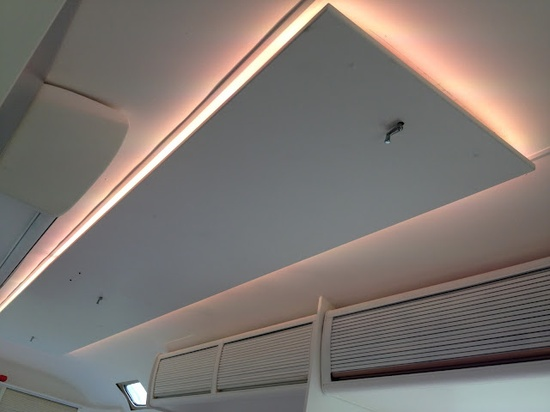 My Airstream concealed Lumilum LED strip lighting