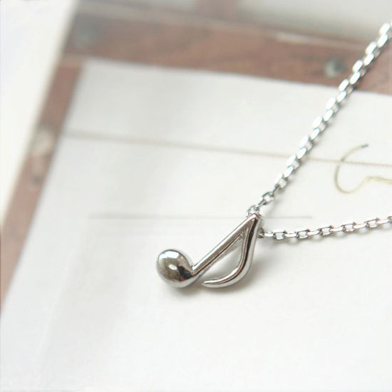 Musical Note Necklace. $14.00, via Etsy.