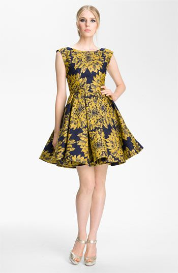Alice + Olivia 'Reese' Pleated Frock Fall 2012