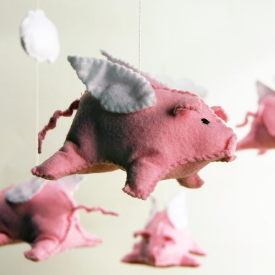 """When pigs fly..."" Mobile, $125"
