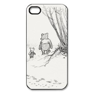 Disney Winnie the Pooh iPhone 5 Case Black and White iPhone 5 Case