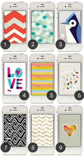 Free designer iPhone wallpapers! Aren't they lovely?