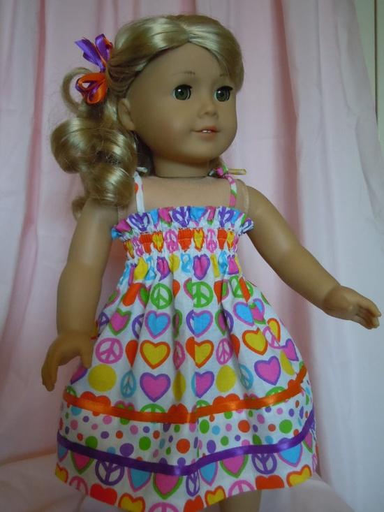 Sun Dress for 18 inch dolls like American Girl by patsdollplace, $18.00