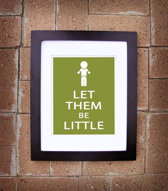 """Let Them Be Little"" poster"