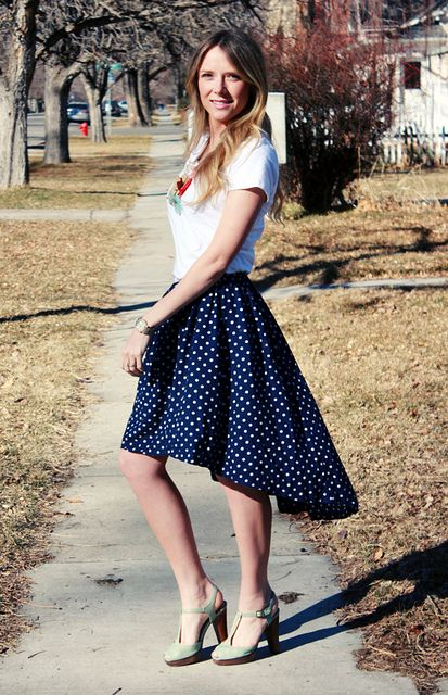HIgh low DIY skirt tutorial // refashion old thrift-store dress/skirt [[I love how she does the elastic waistband, much better than my usual method]]