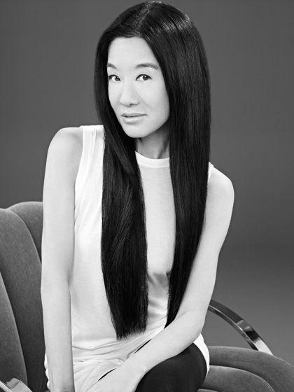 Vera Wang pin straight hair