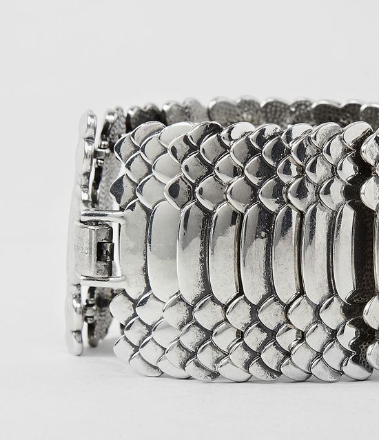 This bracelet looks like reptile scales.  Beautiful!