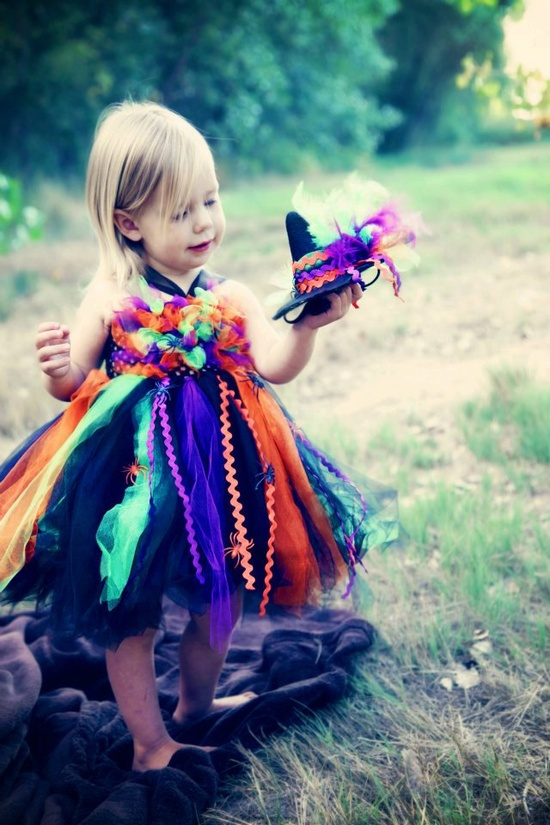 Witch tutu dress with matching witch hat 12mo-2T