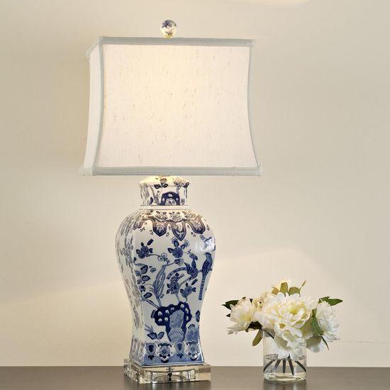 Square Vase Blue and White