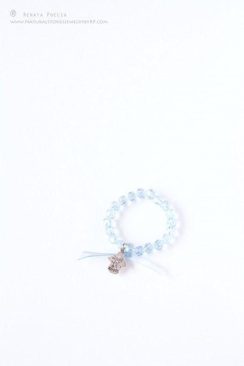 Baby boy baptism bracelet