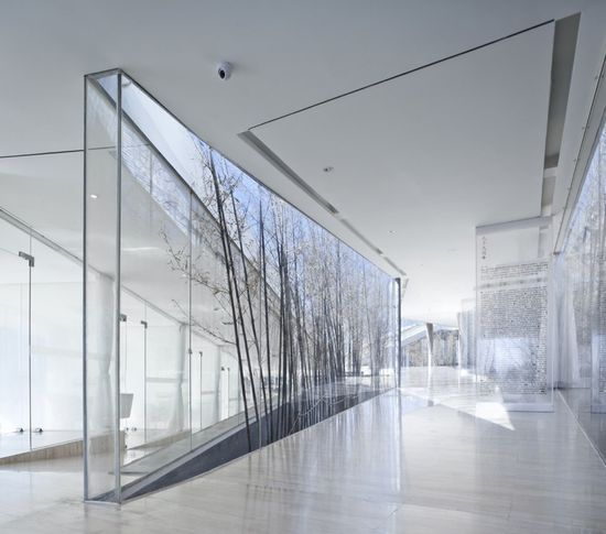 Light boxes.  Riverside Clubhouse, Jiangsu, China. Trace Architecture Office.