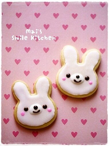 smile bunny cookie