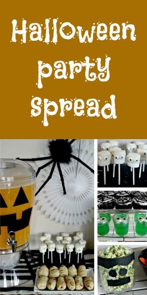 A Halloween Party Spread