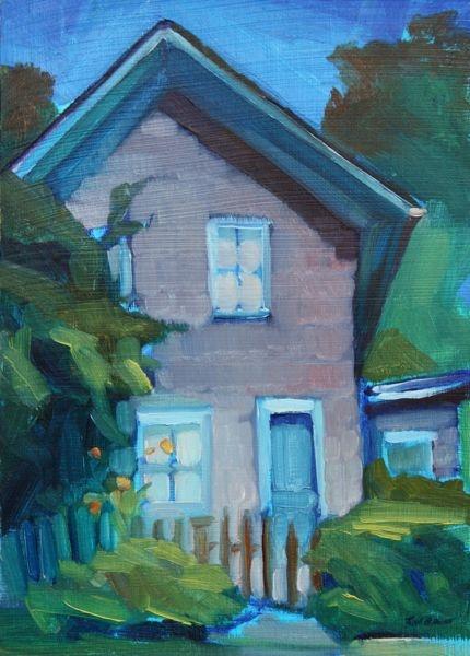 "'Big Blue Peak' - 5""x7"" original oil painting for sale by Maryann Lucas"