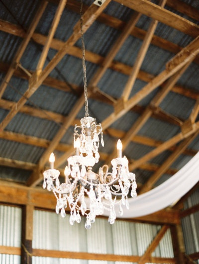 a shed turned glamorous with chandeliers to light the party Photography by Erich McVey Photography / erichmcvey.com, Coordination by Luxe Event Productions / LuxeProductionsNW...