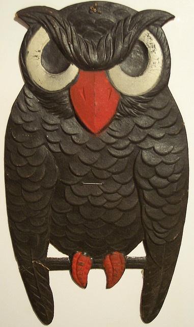 Vintage German Halloween Diecut Owl