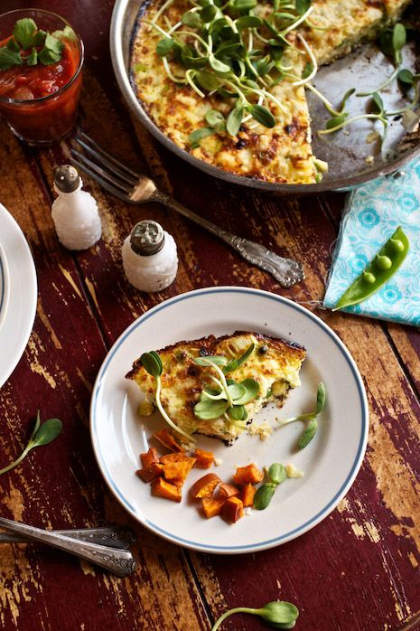 Baby Peas and Cheese Frittata Recipe