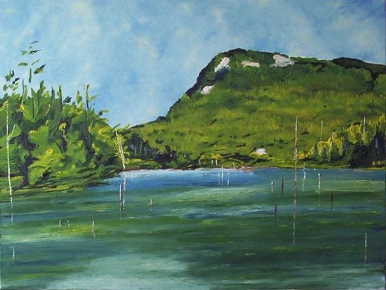 Cherry Pond, Orford National Park, Quebec, Canada. 30x40. Fournierpainter on @Etsy! $1800