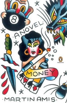 Money by Martin Amis: Part of a series of Penguin book covers re-imagined by tattoo artists