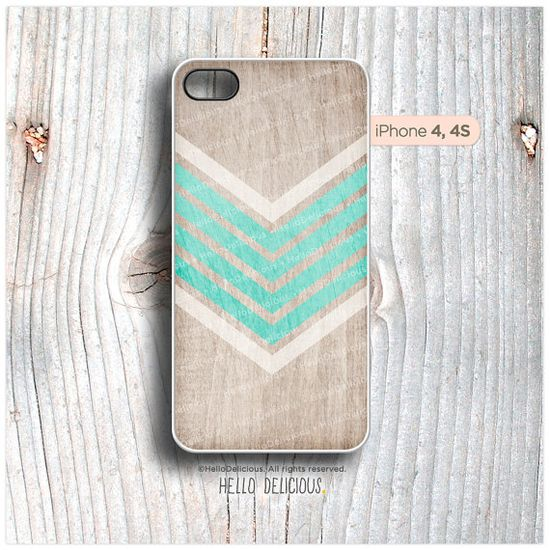 iPhone 4 and iPhone 4S case Geometric Color Palette on Wood I13