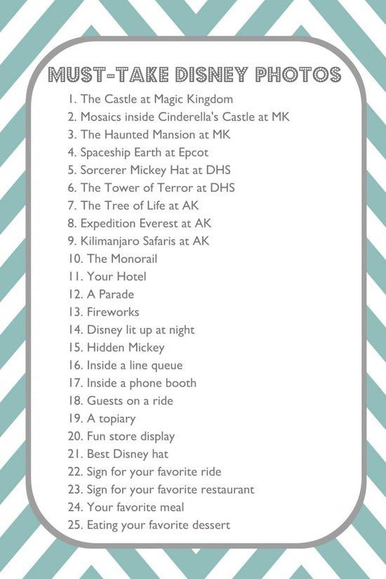 Must-take photos at Disney