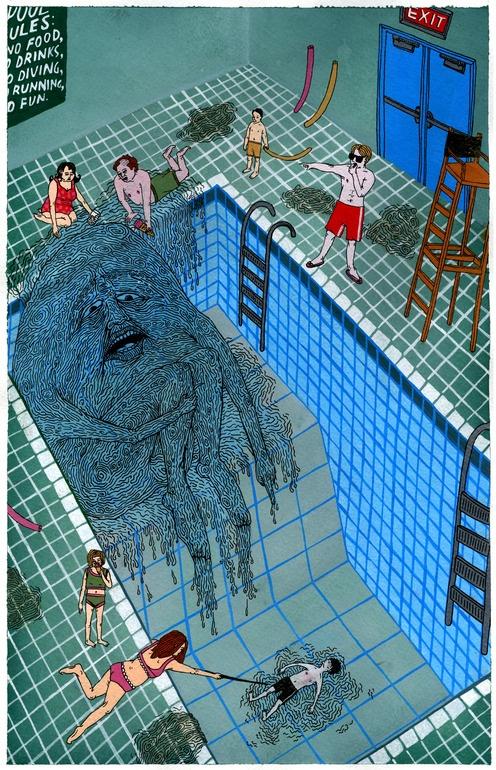 "Saatchi Online Artist: Valeriya Volkova; Acrylic, 2009, Painting ""Pool"""