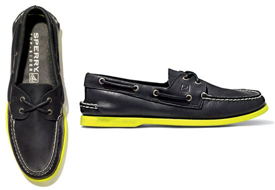 Sperry Top-Sider with yellow sole