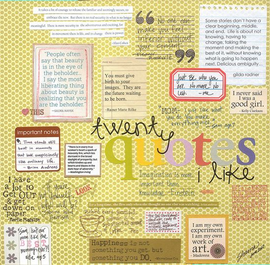 scrapbook quotes