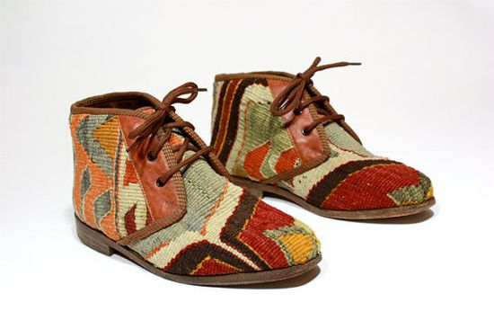Tapestry ankle boot