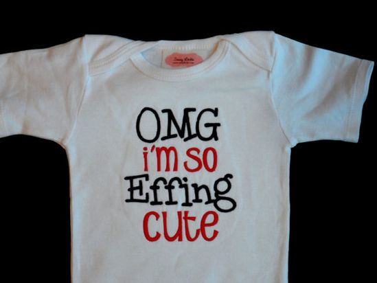 Baby Boy Clothes Funny Onesie Embroidered with OMG I'm by LilMamas, $16.00