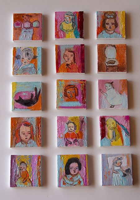 set tiny paintings By anagonzalez