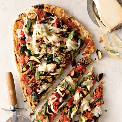 Cooking Light Veggie Grilled Pizza Recipe