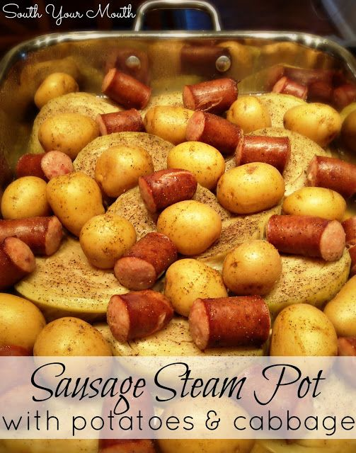 Sausage Steam Pot with Potatoes & Cabbage