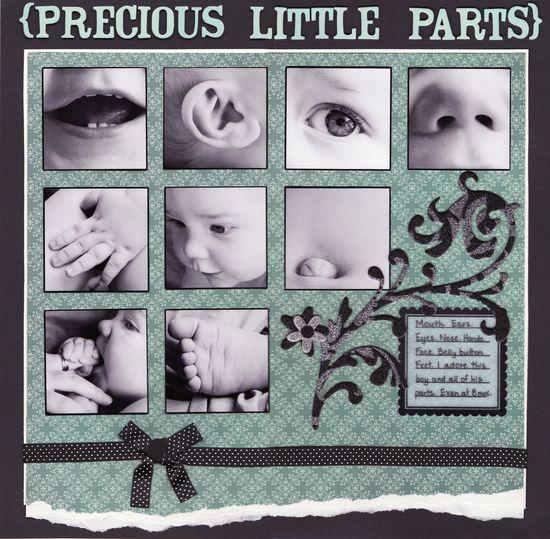 Precious Little Parts - Scrapbook.com