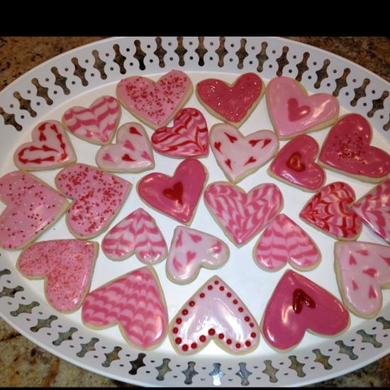 Valentines heart cookies