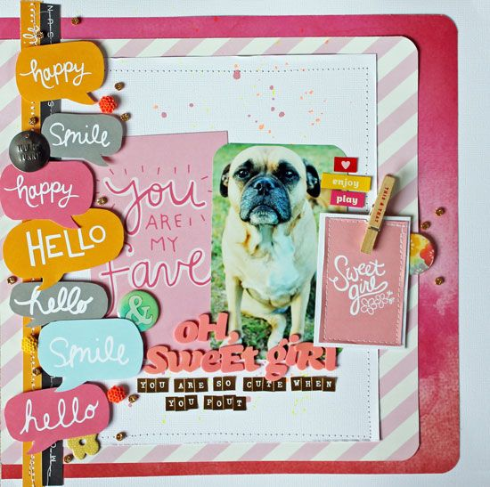#papercrafting #scrapbook #layout Oh,-Sweet-Girl---Layout